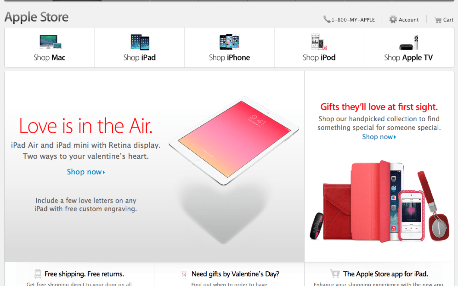 Love is in the (iPad) Air, suggests Apple, in Valentine's Day promotion