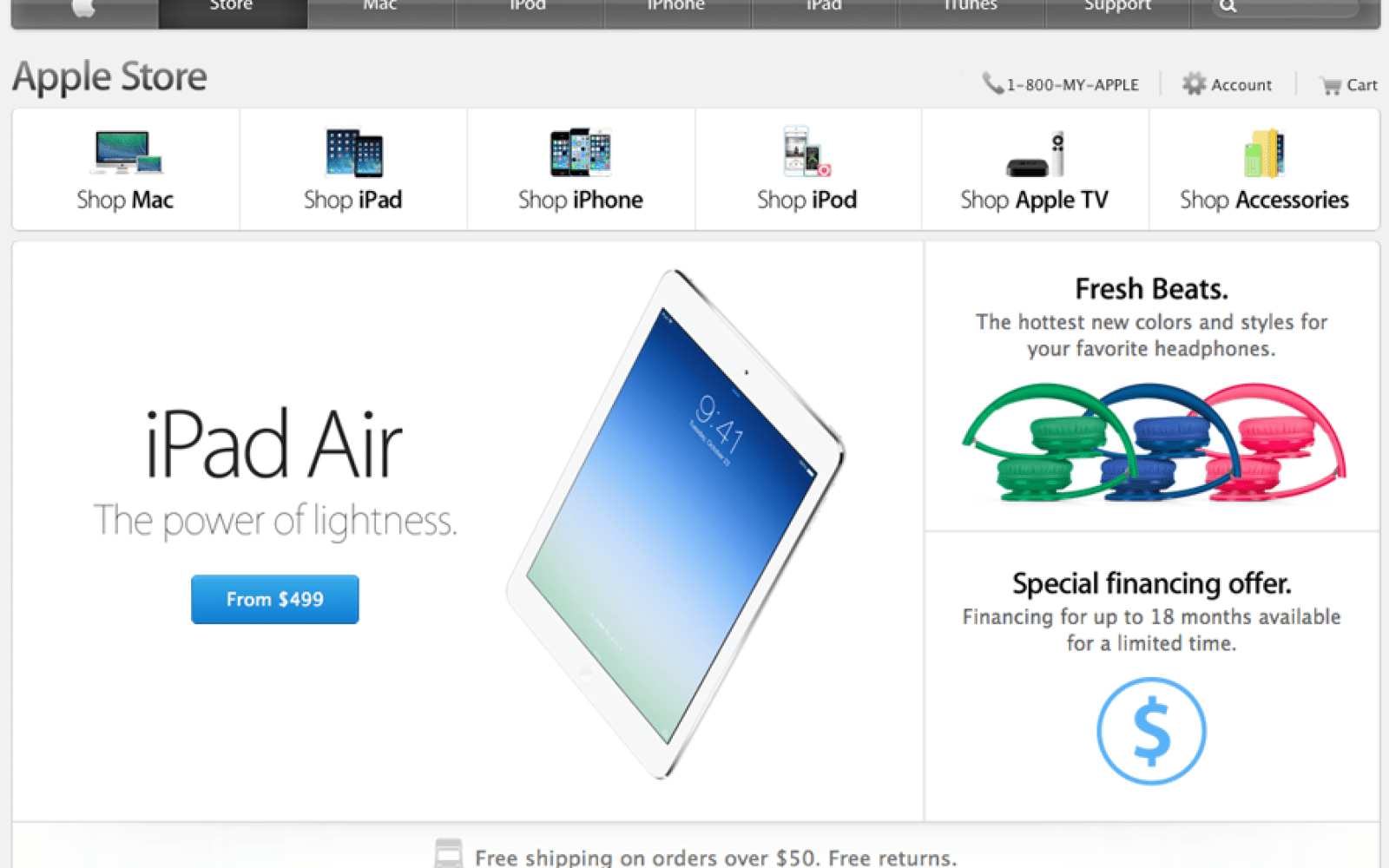 Apple promotes accessories to their own tab on the online store homepage