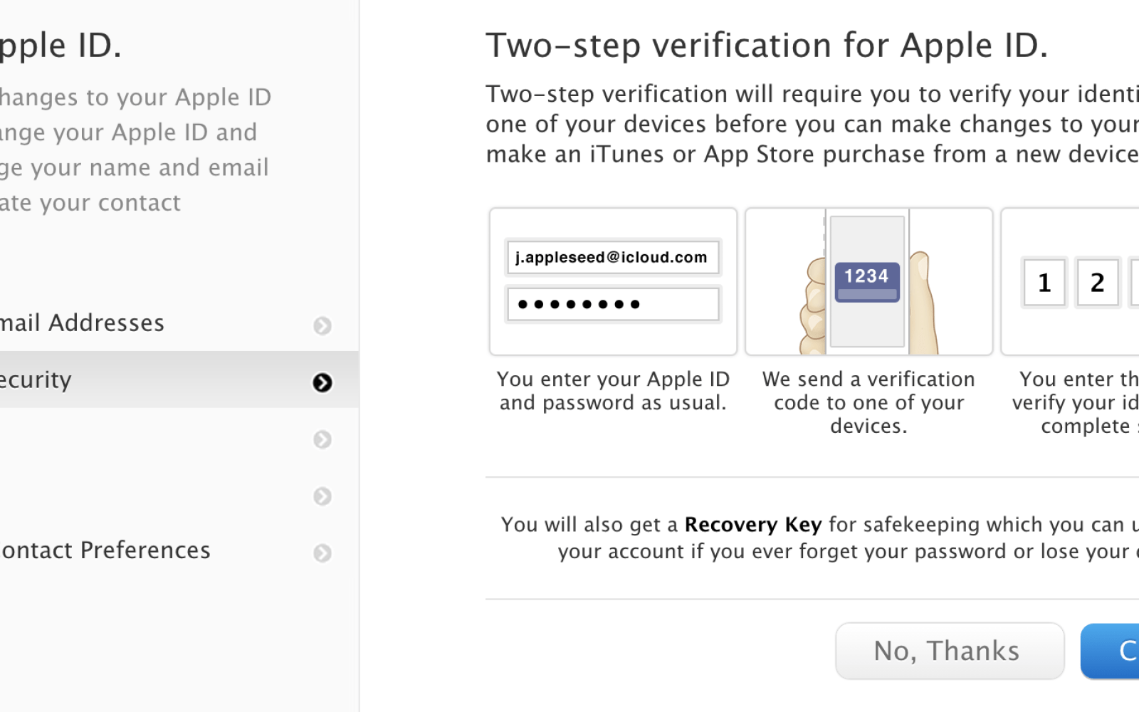 Apple's two-step verification for Apple IDs arrives in