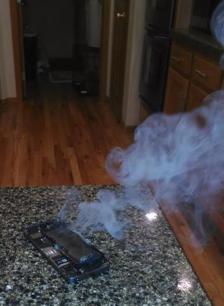 Burning-iphone