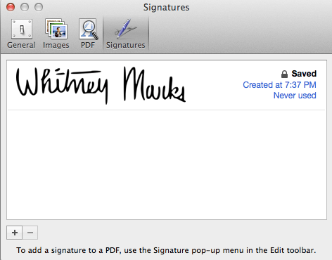 How-to: Use Preview to put signatures on PDF's, Pages Documents, and
