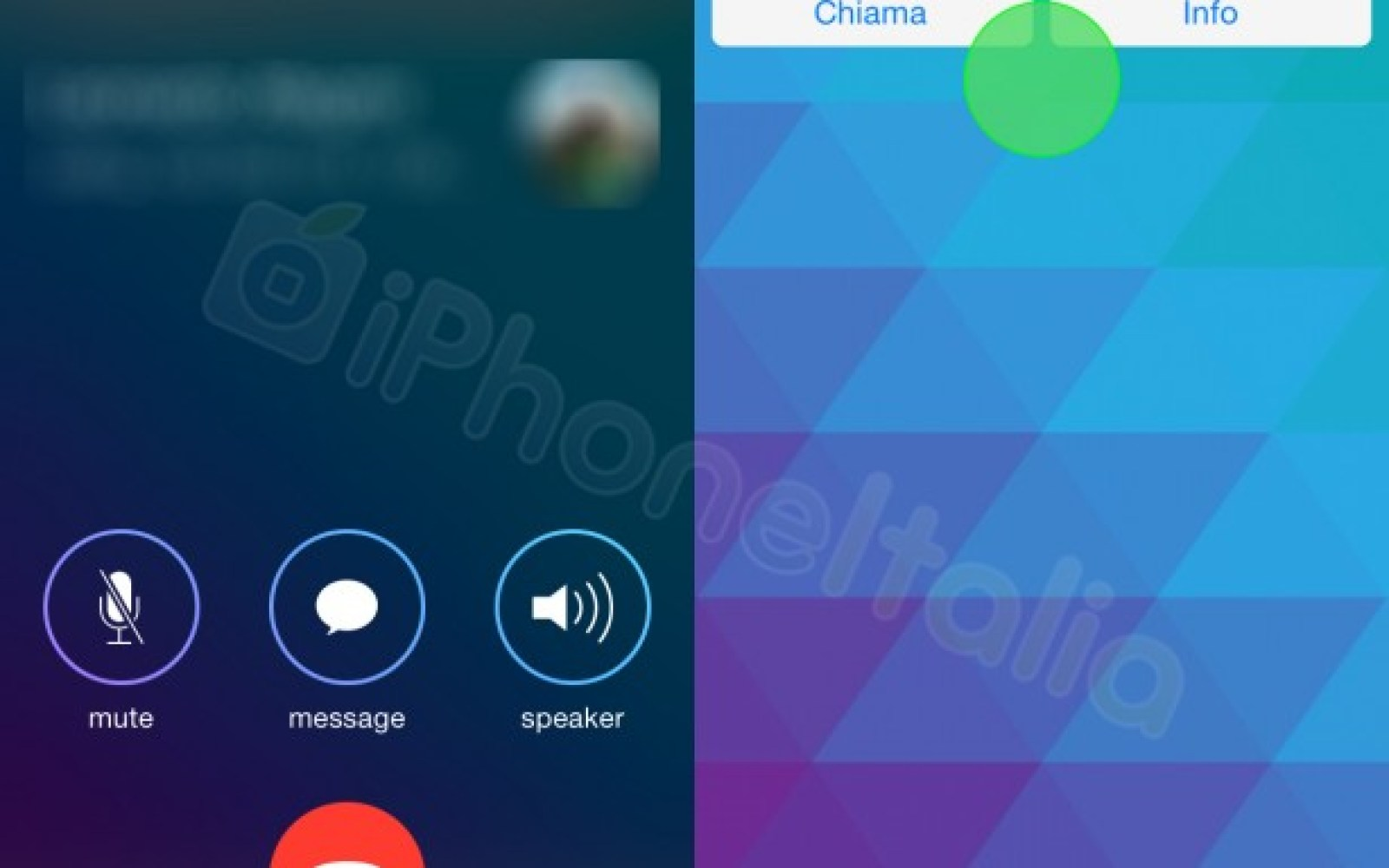 Screenshots of WhatsApp's upcoming VOIP feature surface, design similar to iOS 7's Phone app