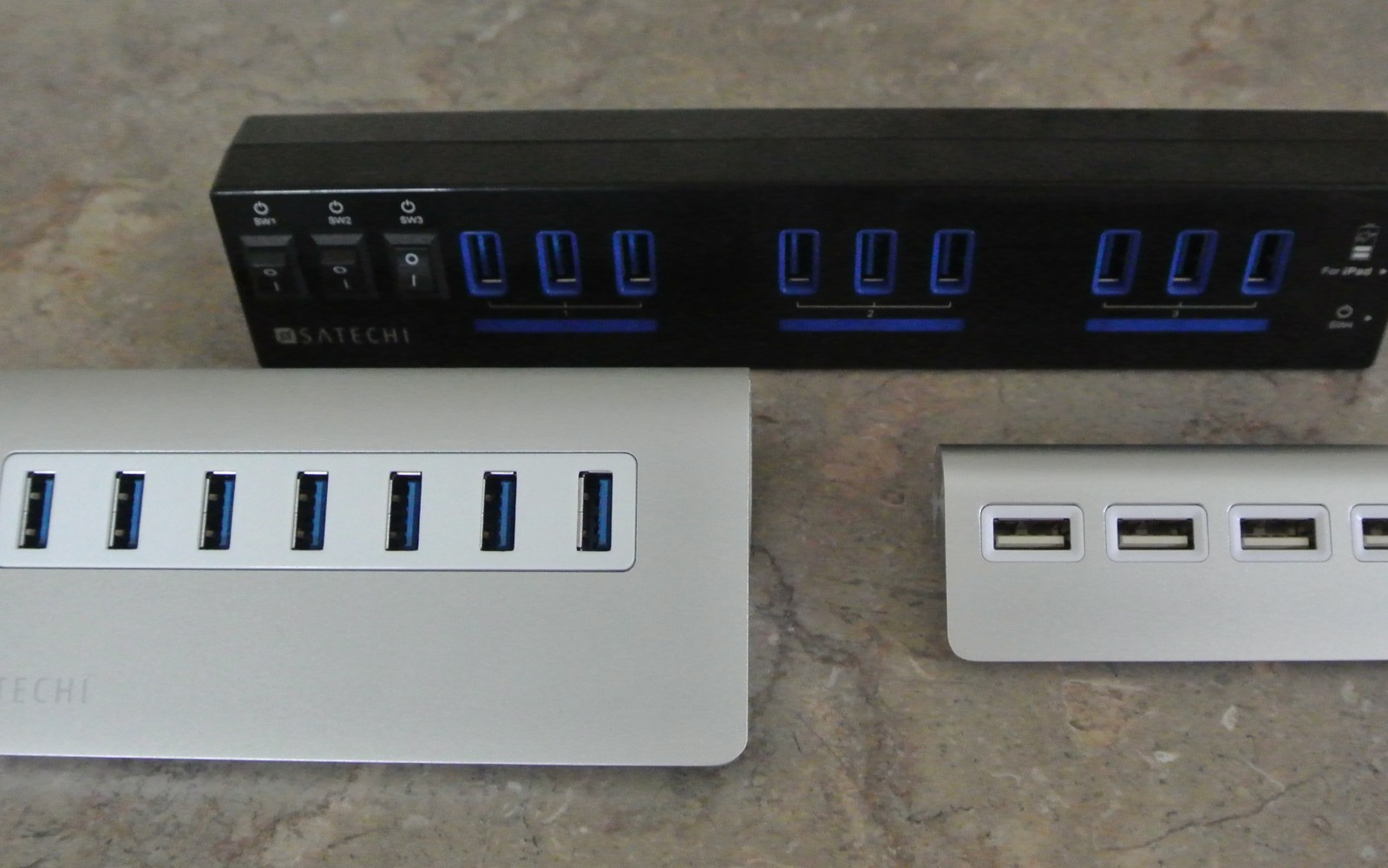 Review: Satechi's 4, 7, & 10 port USB hubs compared