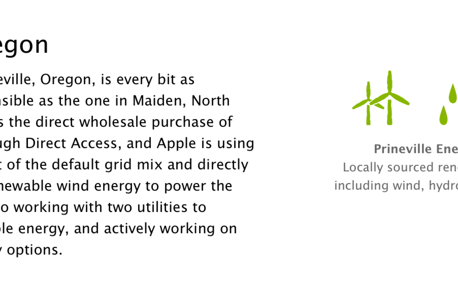 Apple takes over hydroelectric plant project near its Oregon data center