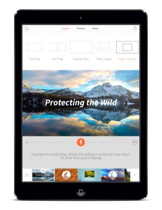 Adobe Voice - Screenshots - Layout