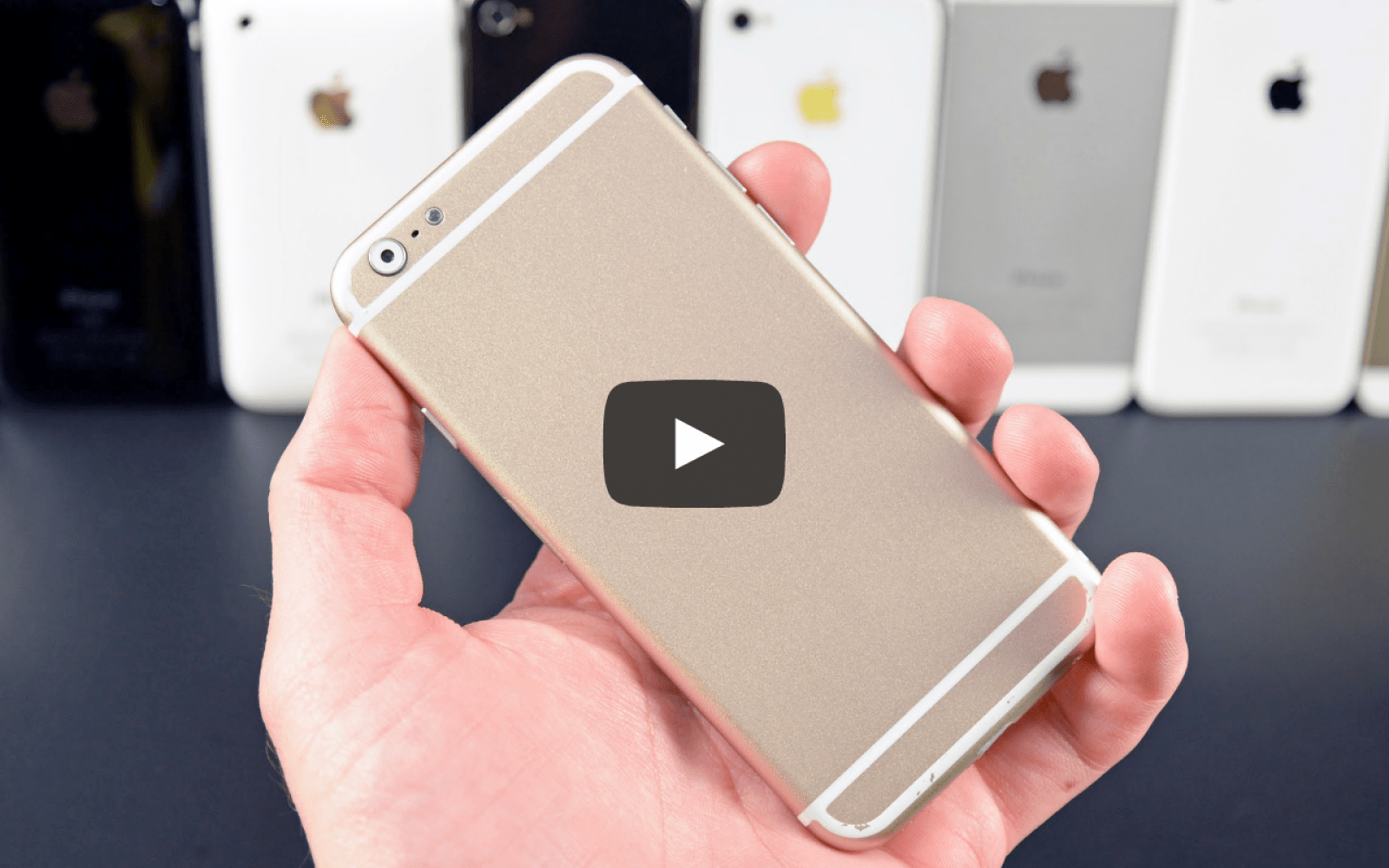 iPhone 6 mockup compared to all previous generation iPhone models (Video)