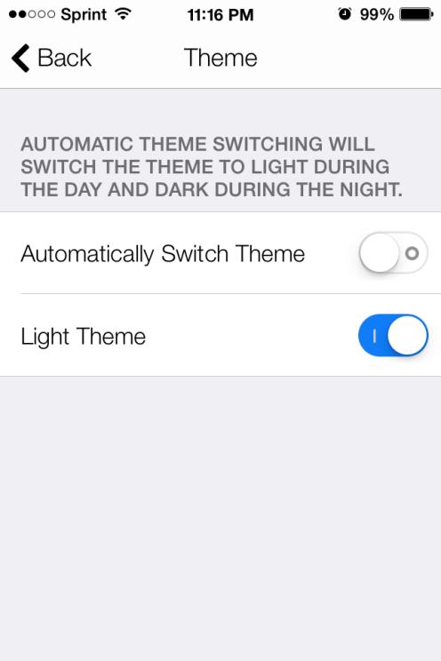 vs light theme