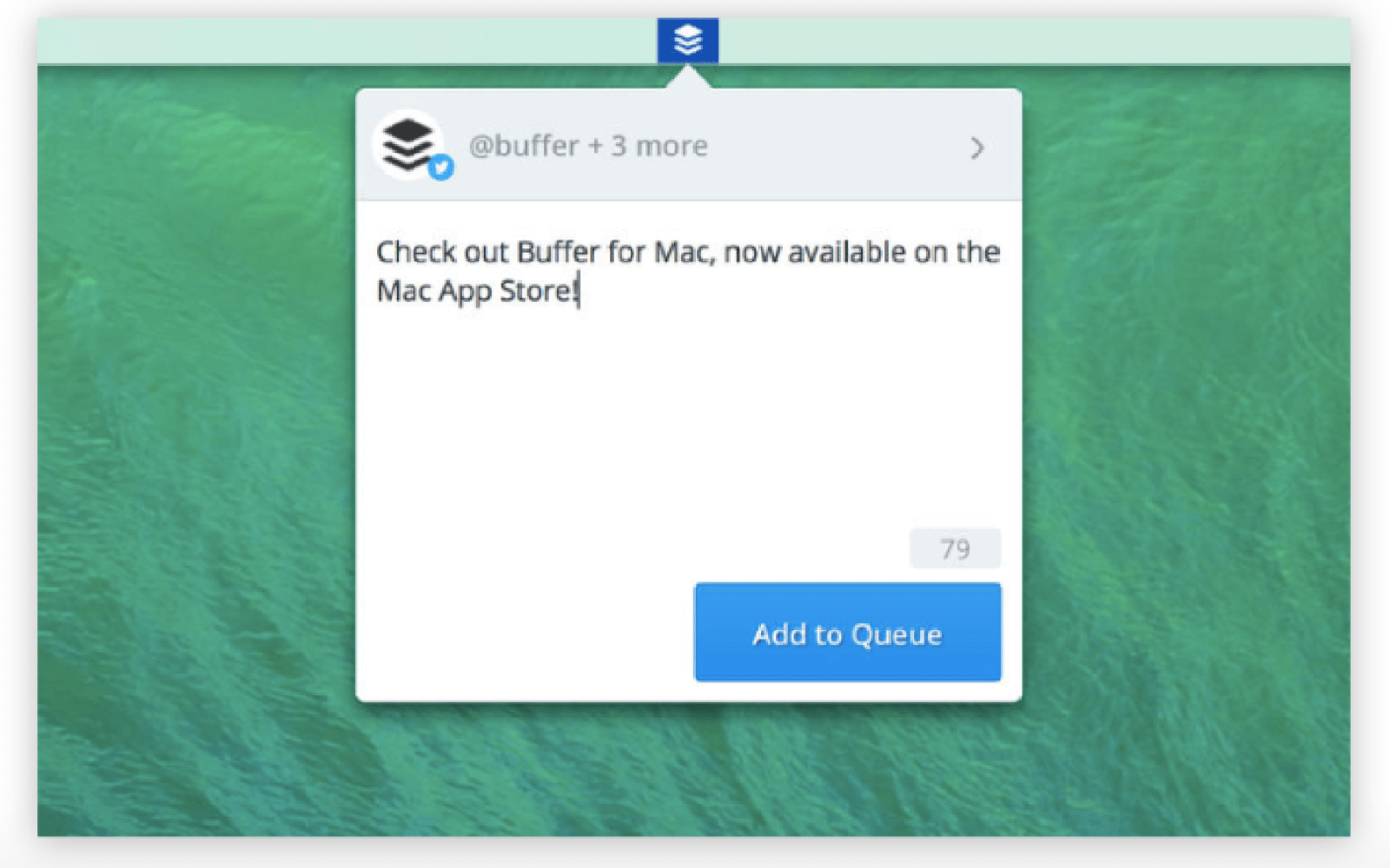 Buffer releases official app for Mac, lets you add to your queue from the menu bar