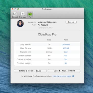 CloudApp Preferences Pro