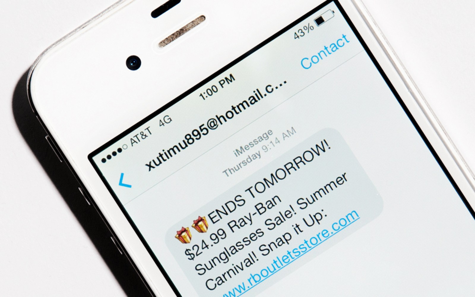 "iMessage ""being taken over by spammers,"" accounts for almost a third of mobile spam"
