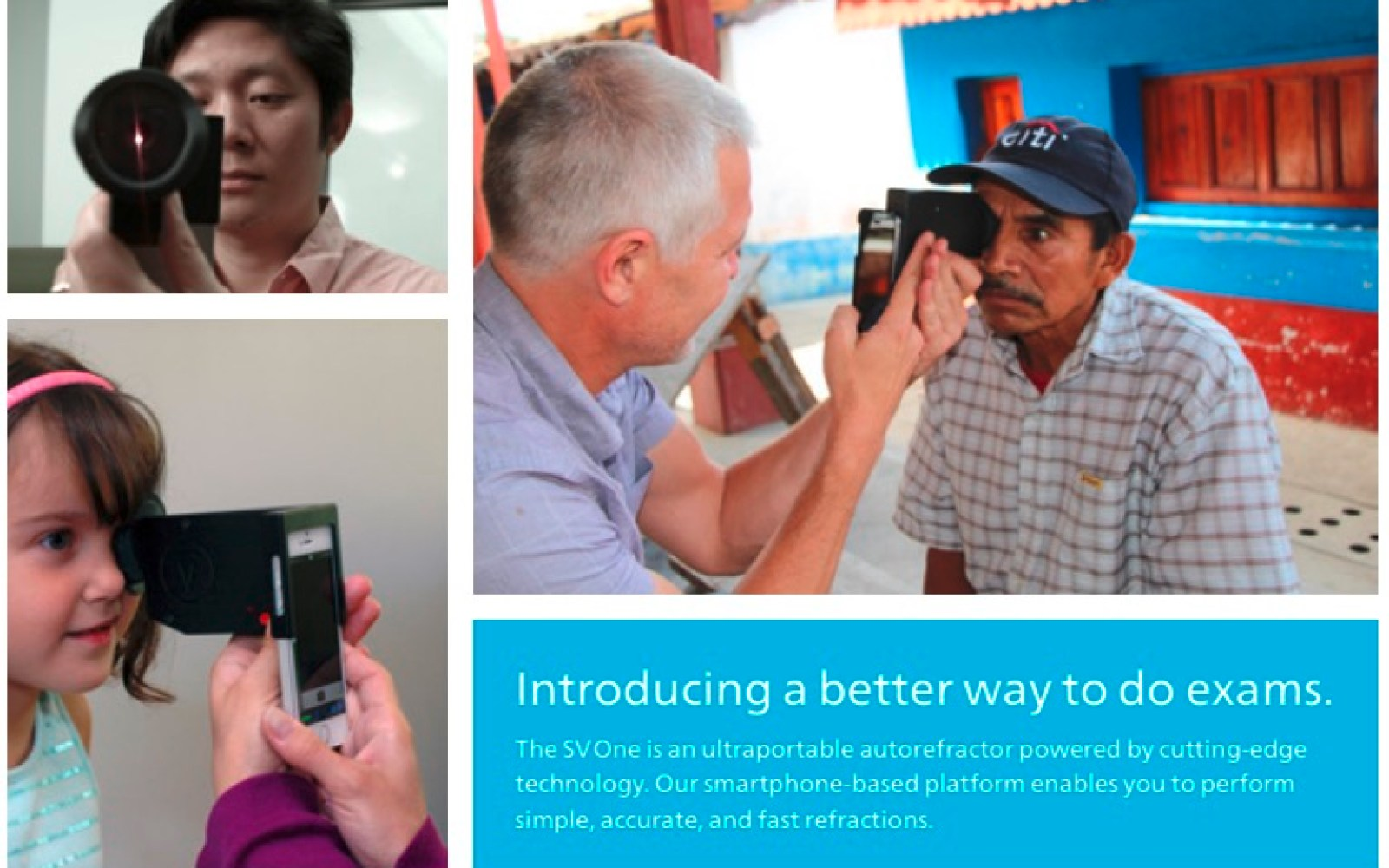 Startup turns the iPhone into a portable optometrist office for quick field eye exams and prescriptions