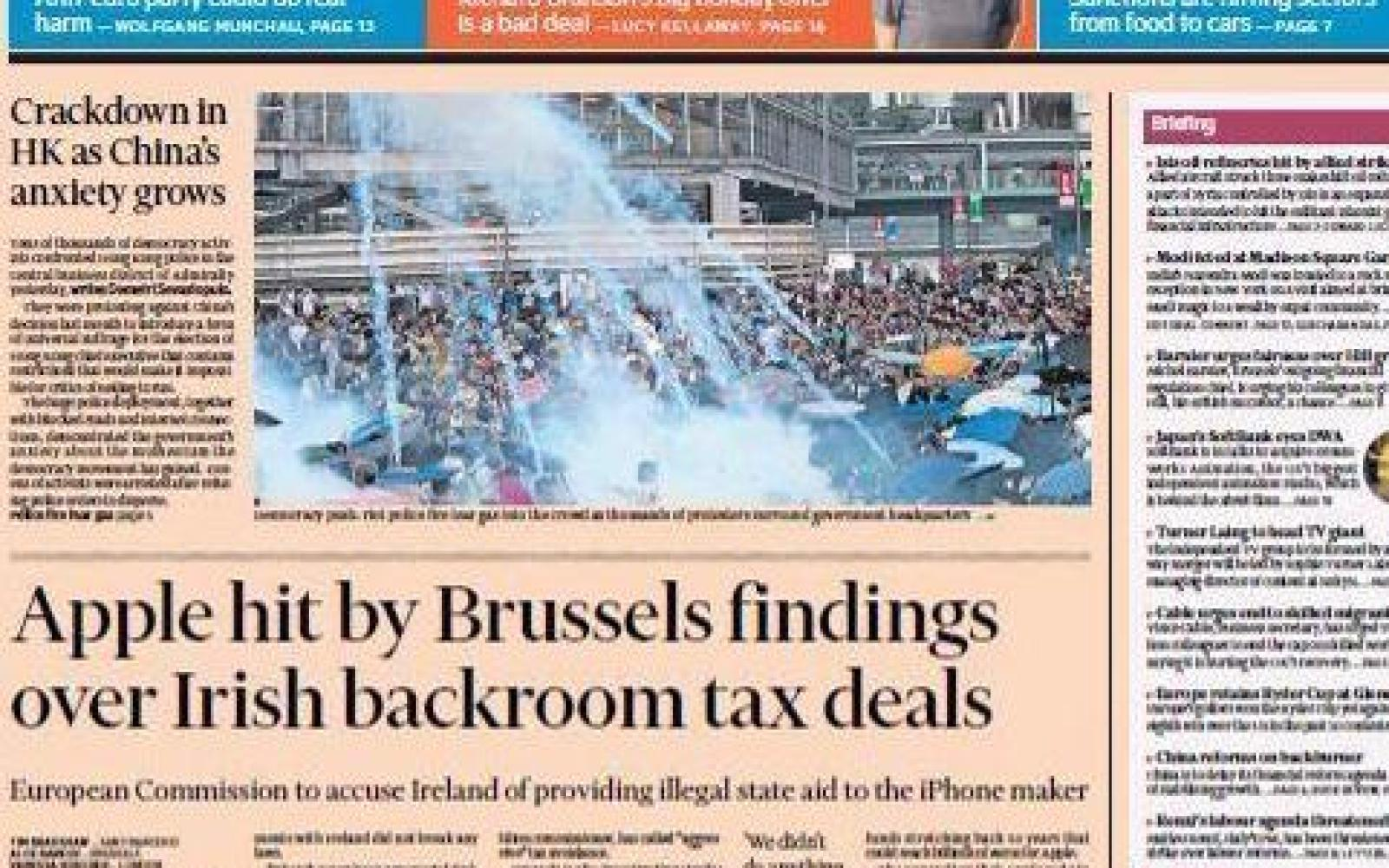 European Commision to accuse Ireland of giving illegal state aid to Apple, fines could be €Billions