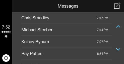 Messages list