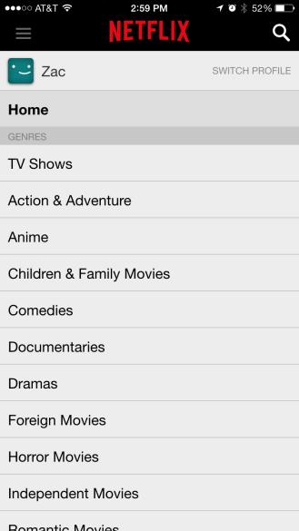 Netflix iPhone 6