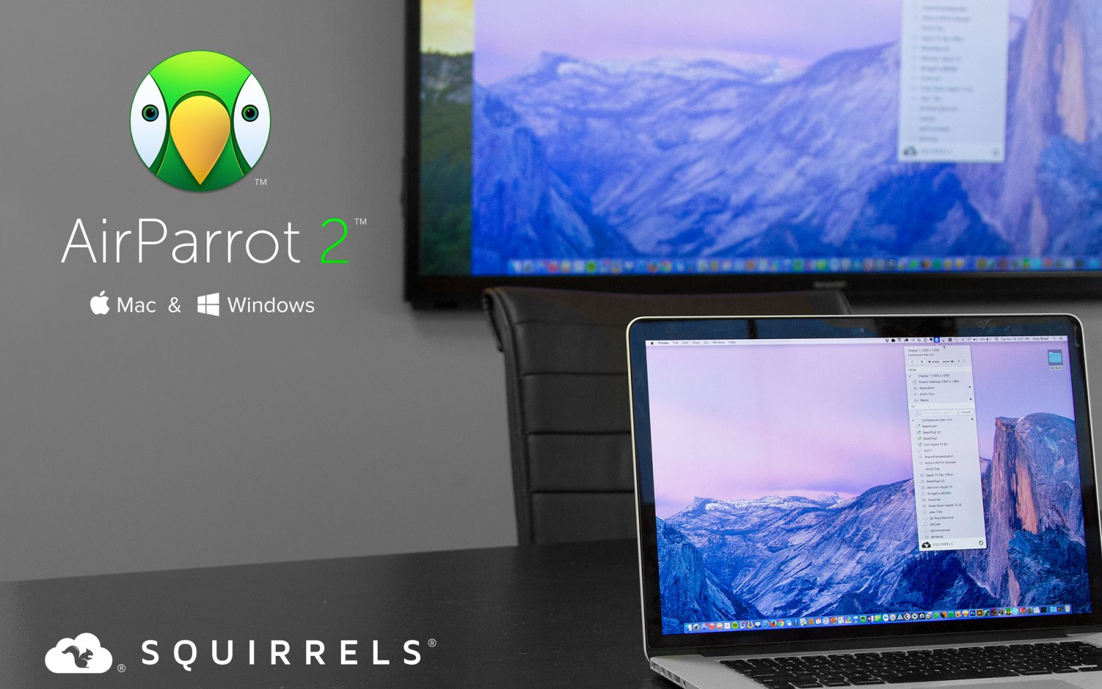 AirParrot 2 brings Mac & Windows screen mirroring to Chromecast, drag and drop media streaming