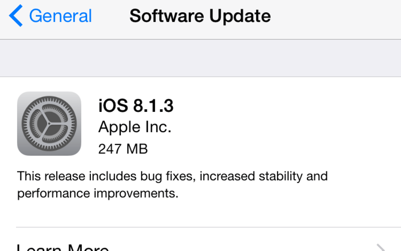 Apple releases iOS 8.1.3 software update w/ stability improvements, reduces space required to update