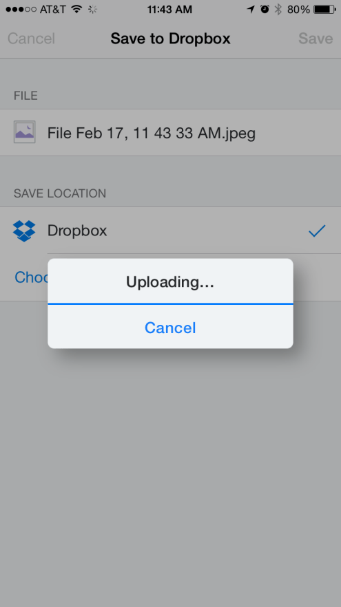Dropbox Upload