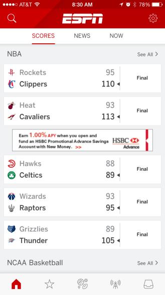 ESPN iPhone 1