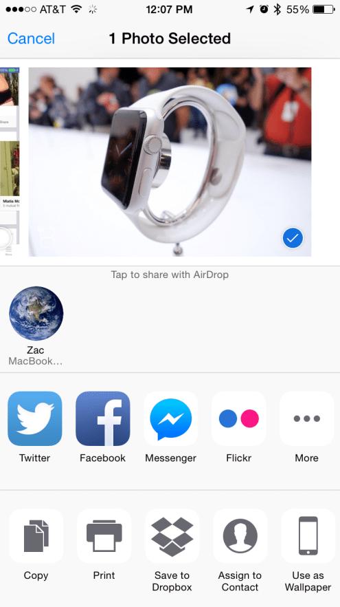 Facebook Messenger iOS 8