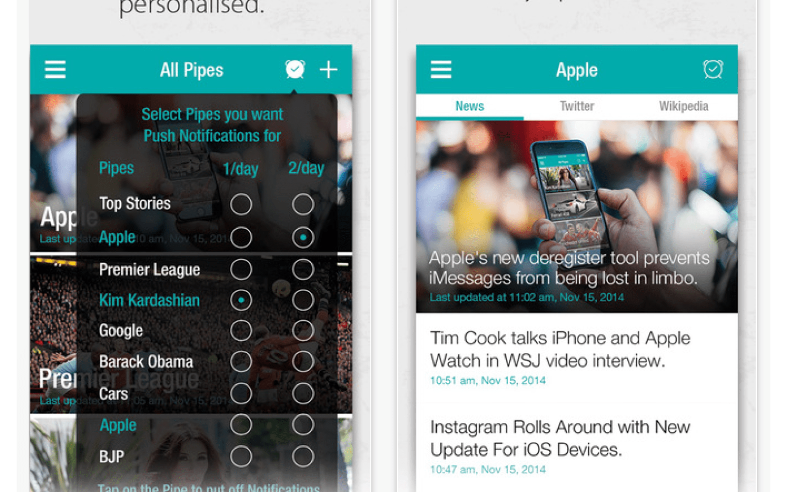 Personalized news feed app Pipes updated with new design, aggregated feeds, trending & more