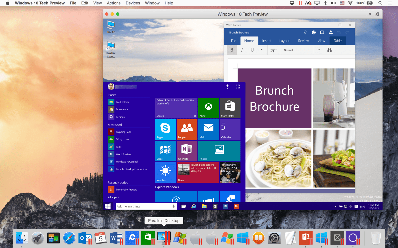 Parallels Desktop 10 updated with support for Windows 10 and Microsoft Office previews