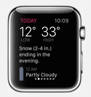 Apple Watch Dark Sky