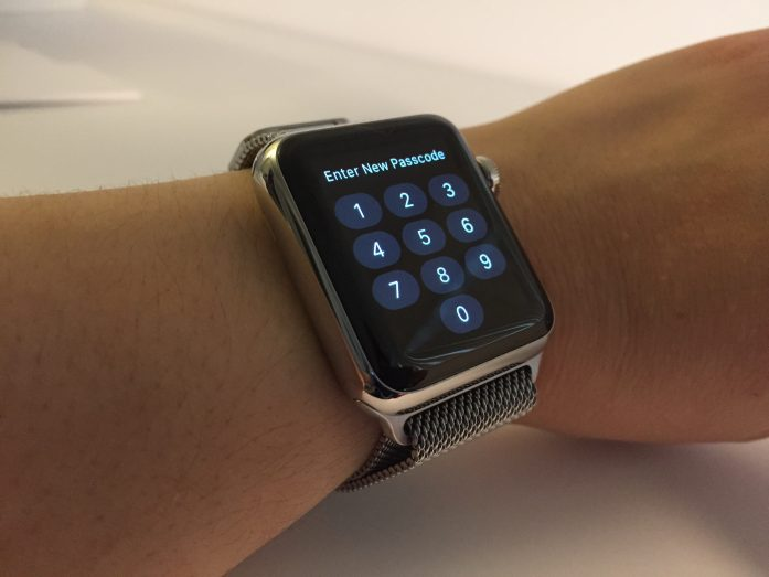 Apple Watch create passcode