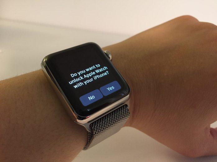 Apple Watch unlock with iPhone