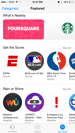 Apple Watch App Store 6