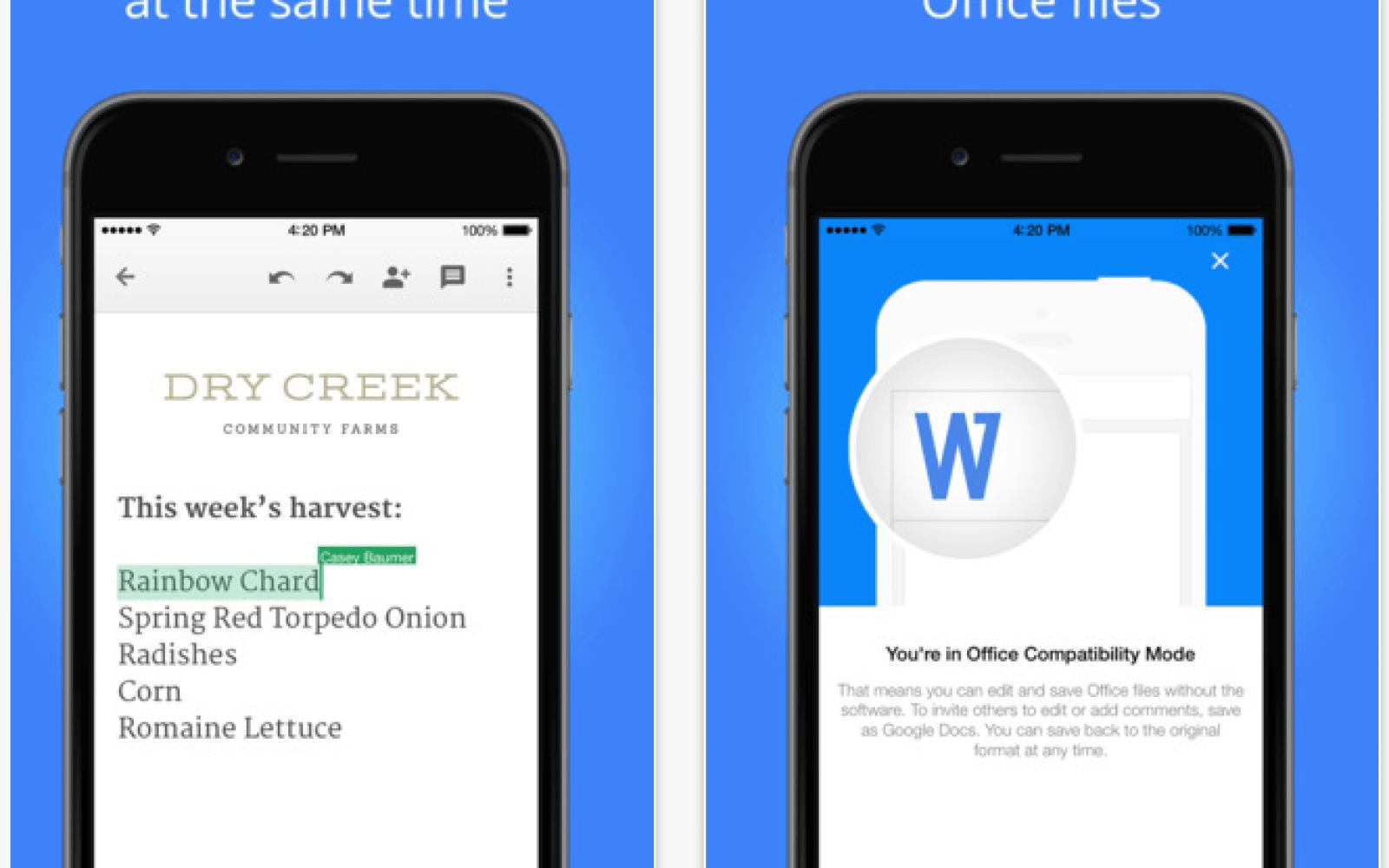 Image result for Google Docs app