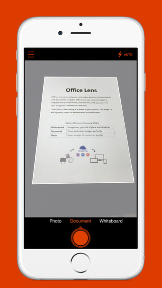 Microsoft brings its OneNote scanner to the iPhone with Office Lens
