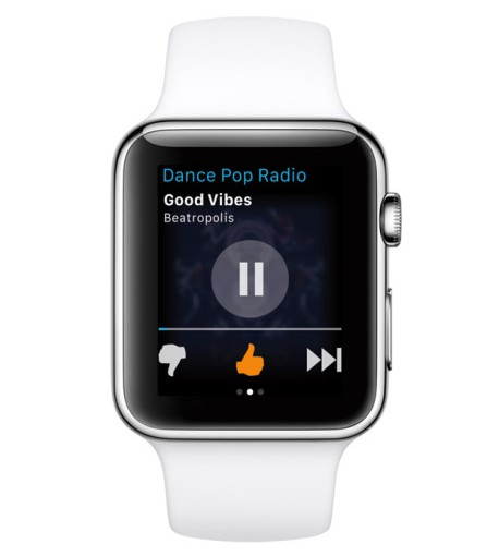 Pandora Radio adds Apple Watch app for remote music control, favoriting songs, more