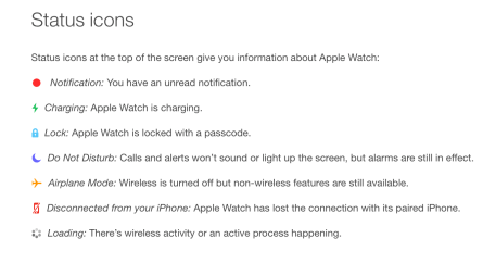 Apple publishes the Apple Watch User Guide online