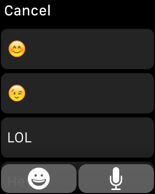 Apple Watch dictation 1