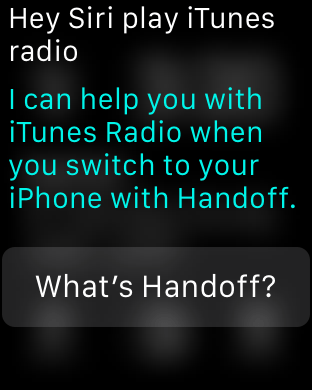 Apple Watch Handoff