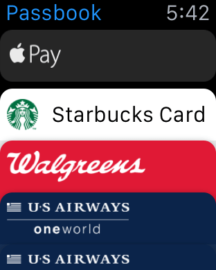 Apple Watch Passbook 1