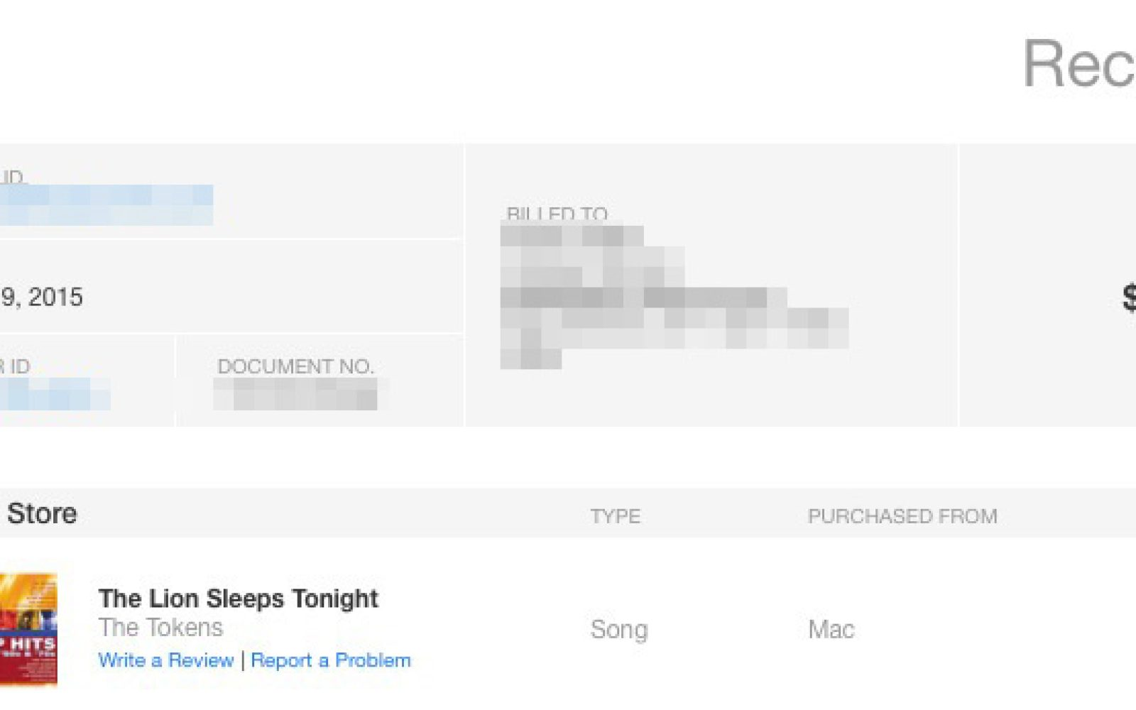 apple refreshes itunes receipts with a new design purchased from