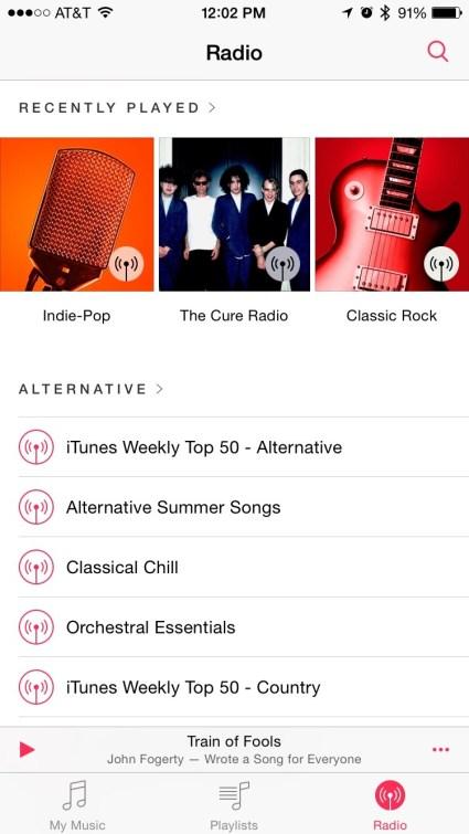 iOS 8.4 beta 3 iTunes Radio