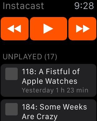 Instacast Apple Watch 1