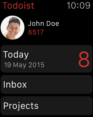 Todoist Apple Watch5