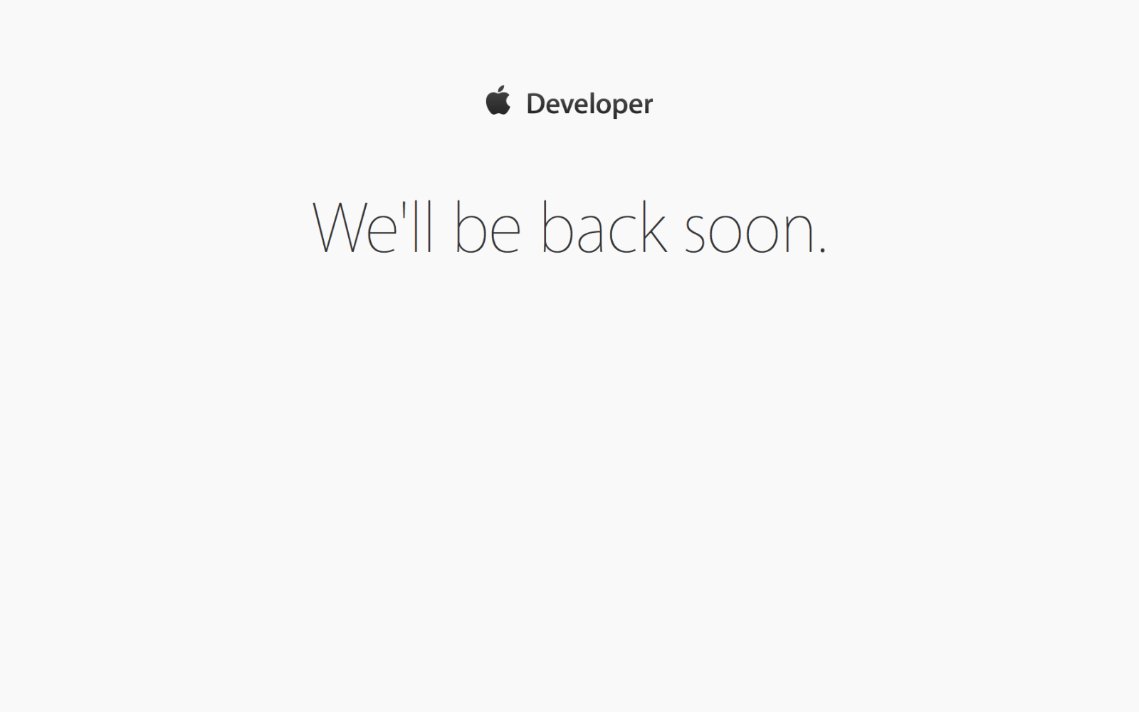 Apple Developer Portal and Beta Software Program pages goes down ahead of WWDC keynote