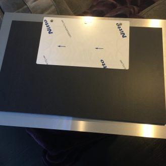 The frameless mount design isn't deluxe, but works well