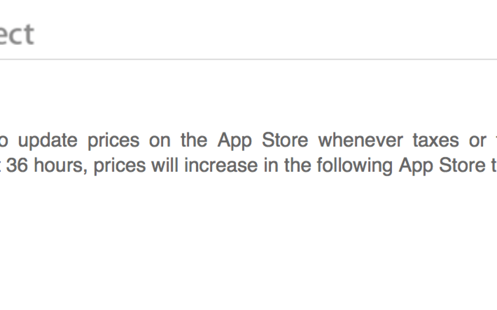 Apple notifies developers of App Store price changes and new