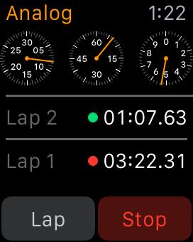 Apple Watch Stopwatch Analog Breakdown