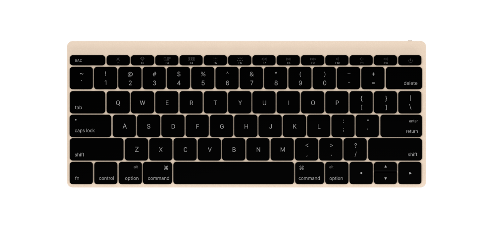 Keyboard Front Gold 1