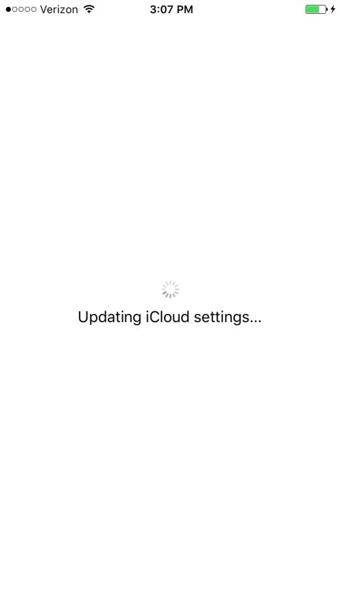 Updating iCloud settings iOS 9