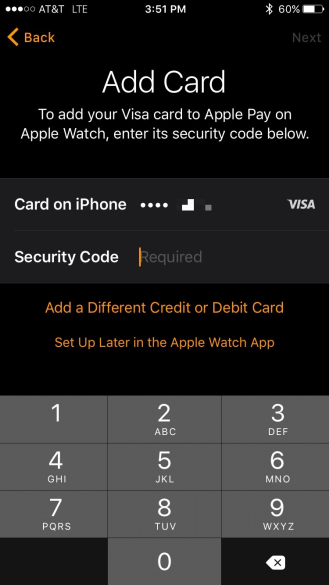 Apple Watch Pay Setup 2