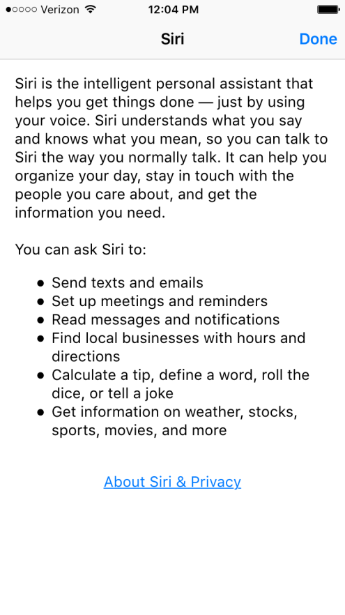 About Siri iOS 9