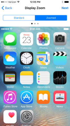 iOS 9 Zoomed 1