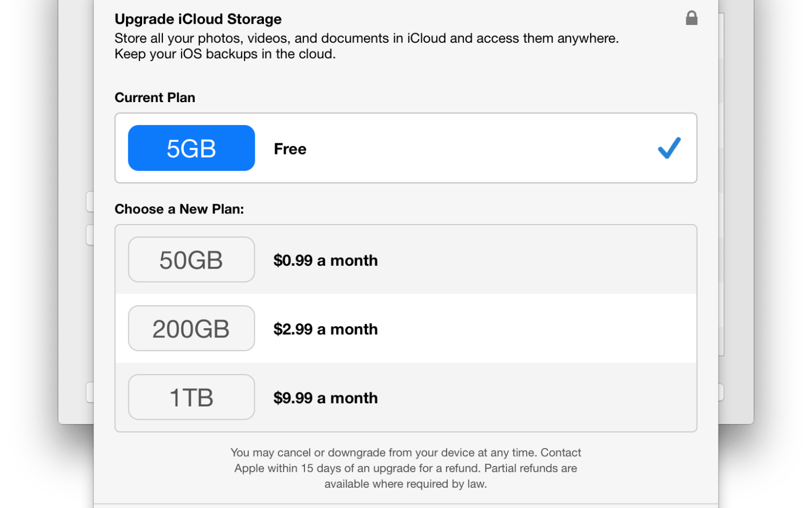 New ICloud Storage Tiers Now Active Get 50 GB Space For 099 Per